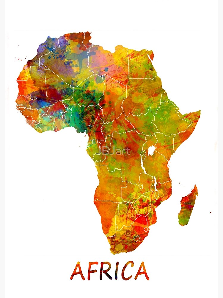 Africa map #africa #map by JBJart