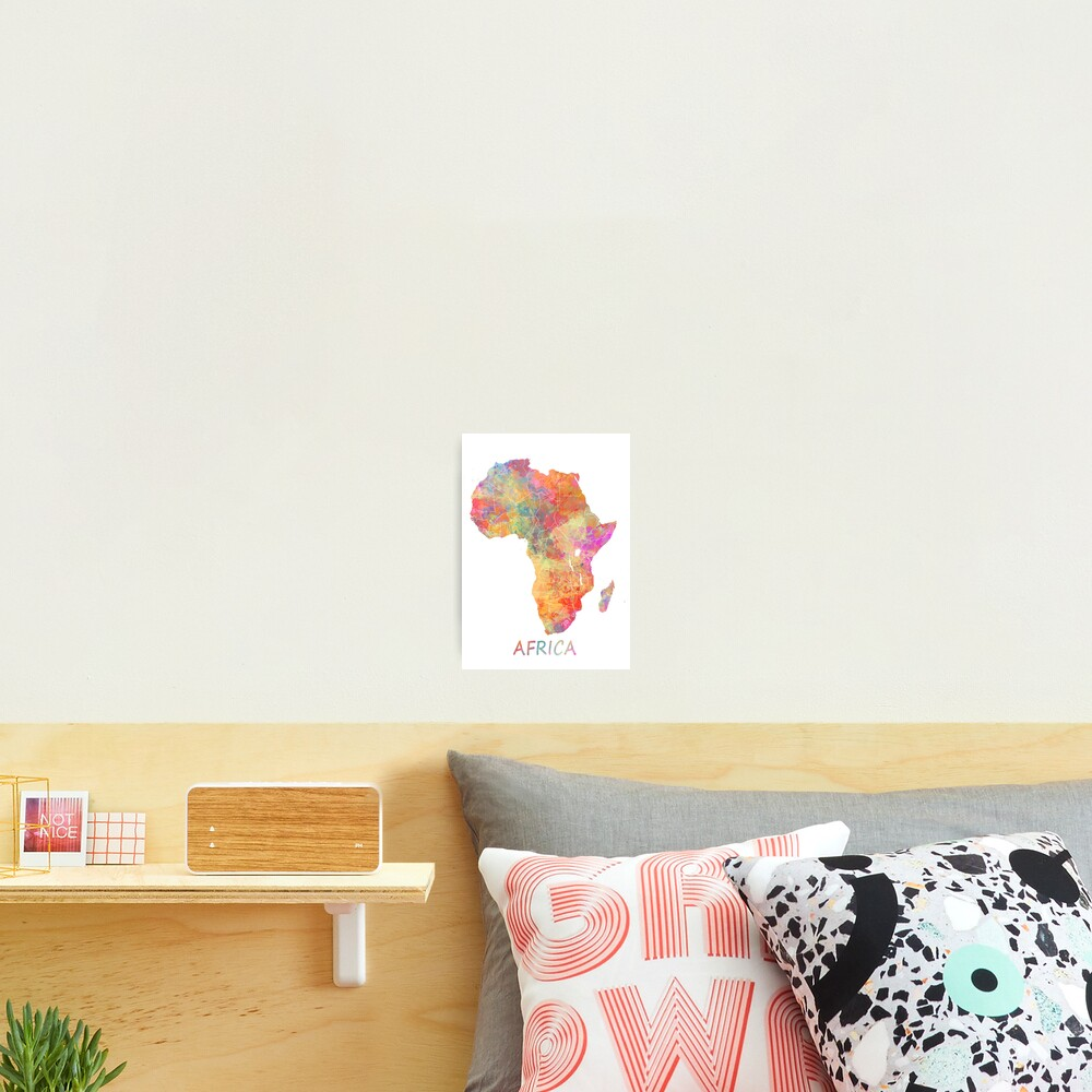 Map Africa #africa #map Photographic Print