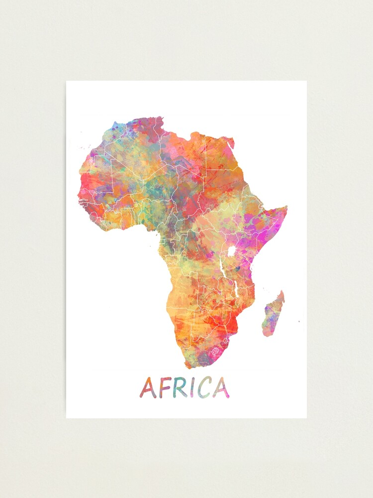 Alternate view of Map Africa #africa #map Photographic Print