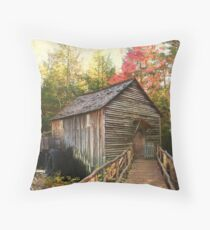 Cable Grist Mill ~ Cades Cove Tennessee Throw Pillow