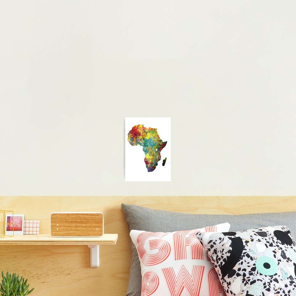 Africa map 3 #africa #map Photographic Print