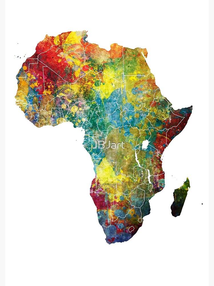 Africa map 3 #africa #map by JBJart