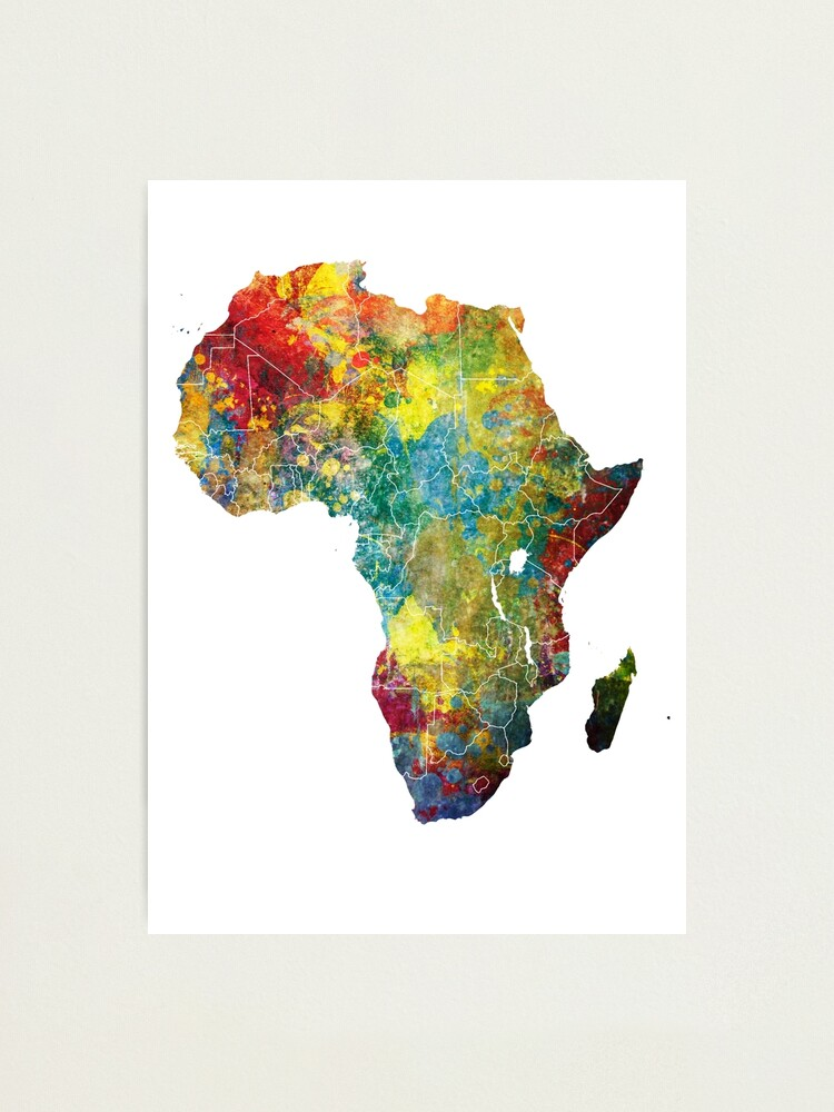 Alternate view of Africa map 3 #africa #map Photographic Print