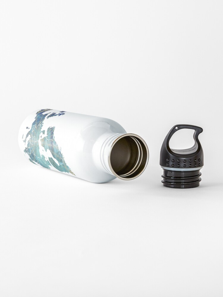 Alternate view of Europe Map wind #europe #map Water Bottle