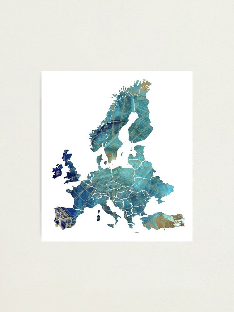 Alternate view of Europe Map wind #europe #map Photographic Print