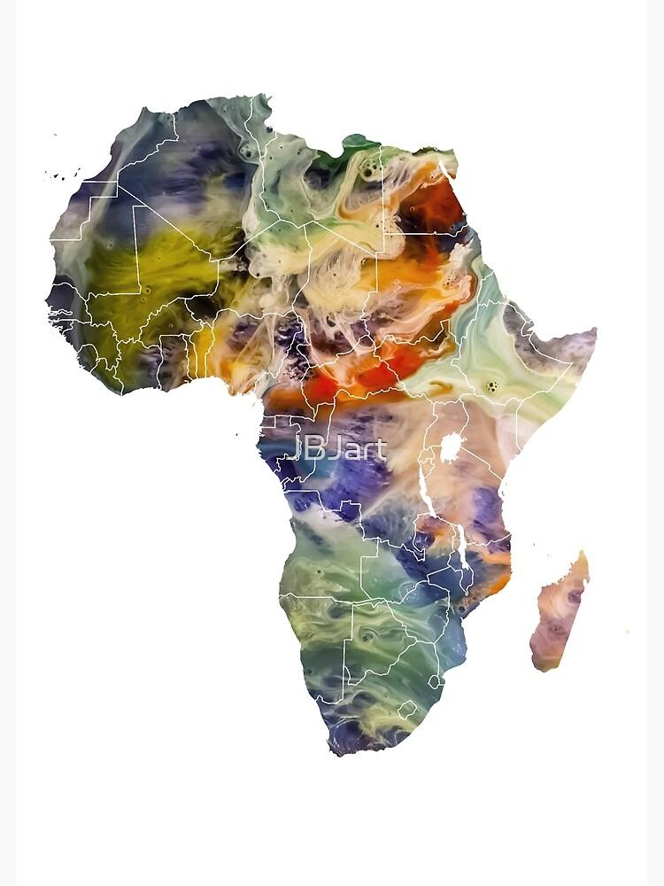 Map Africa 6 #africa #map by JBJart
