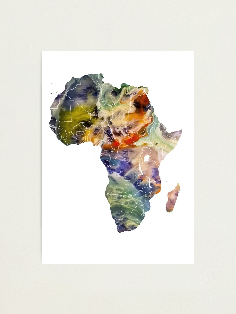 Alternate view of Map Africa 6 #africa #map Photographic Print