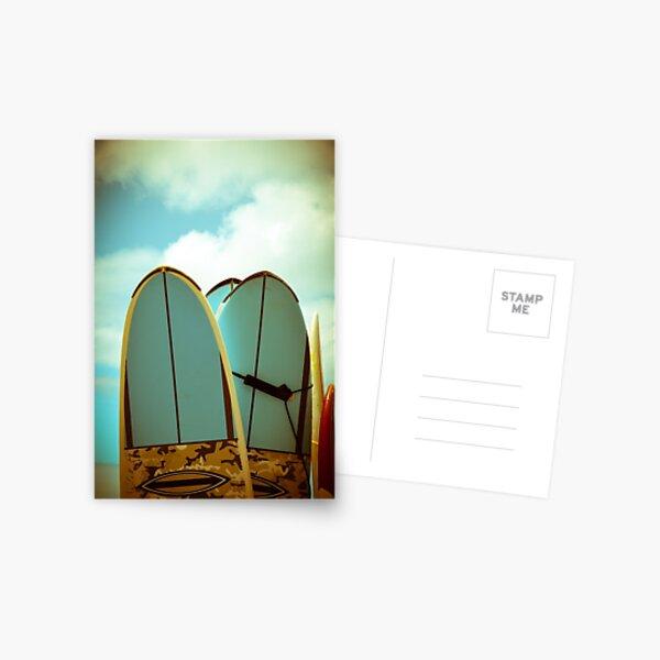 Vintage Surf Boards Postcard