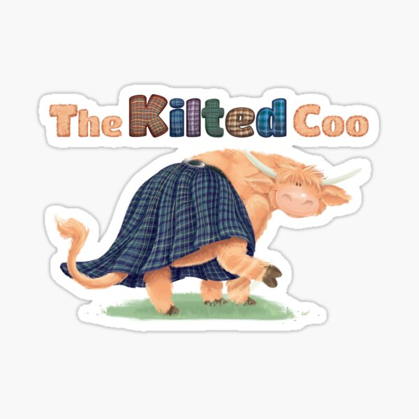 The Kilted Coo - Official - Title Sticker