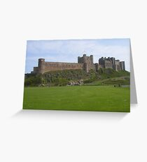Bamburgh Castle, Northumberland Greeting Card