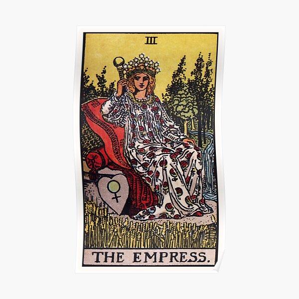 Representación de alta resolución del estilo tradicional Rider-Waite.  La emperatriz es una hermosa Póster