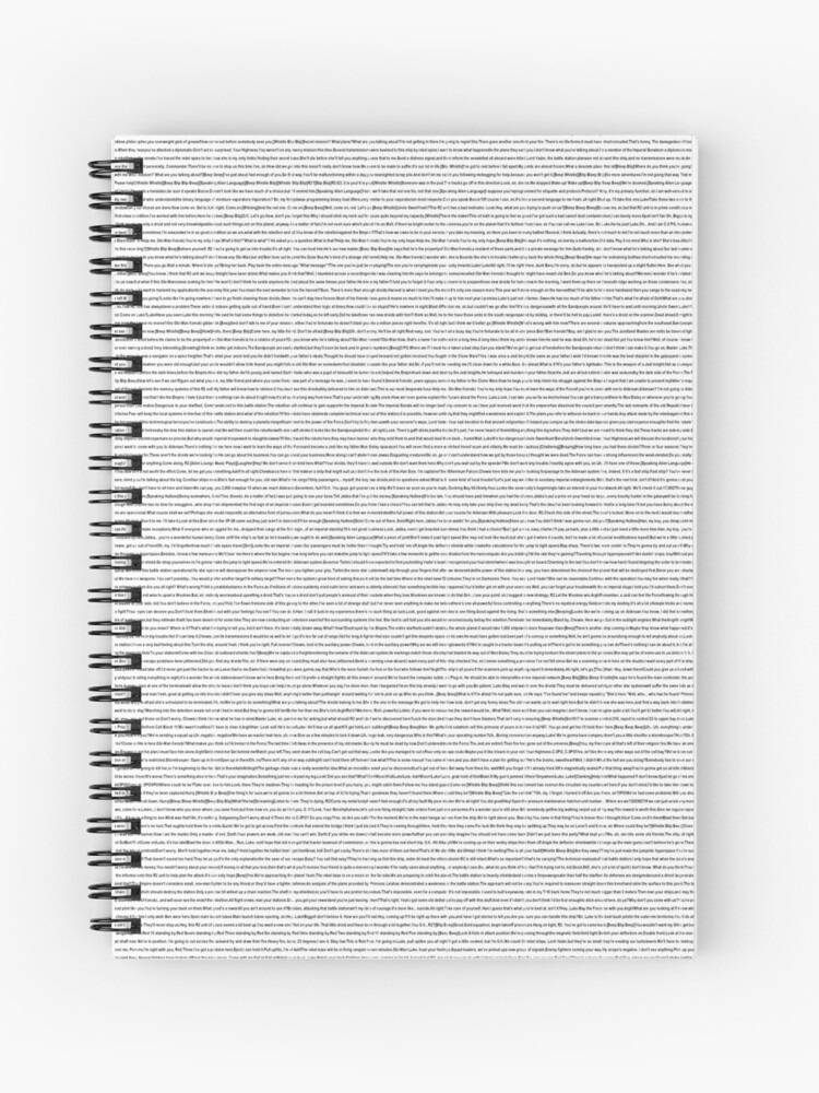 Star Wars Episode 4 Iv A New Hope Script Spiral Notebook By Geempah Redbubble