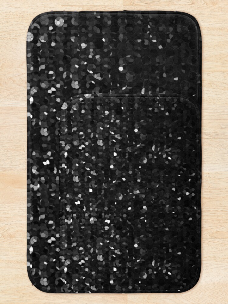 Alternate view of Black Crystal Bling Strass G283 Bath Mat