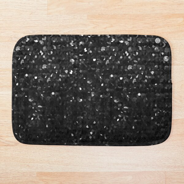 Black Crystal Bling Strass G283 Bath Mat