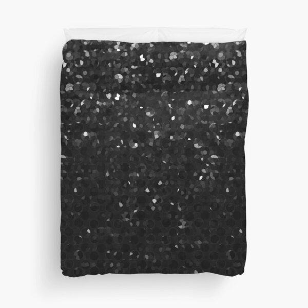 Black Crystal Bling Strass G283 Duvet Cover