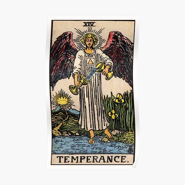 XIV. Temperance Tarot Card Poster