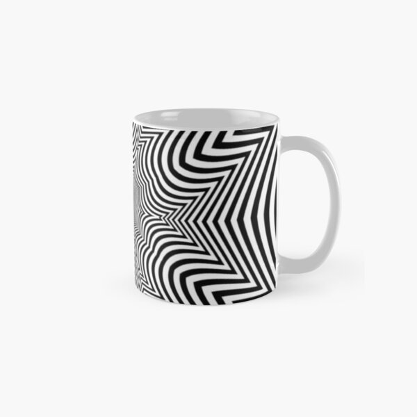 #Illusion, #pattern, #vortex, #hypnosis, abstract, design, twist, art, illustration, psychedelic Classic Mug