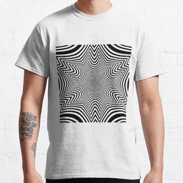 #Illusion, #pattern, #vortex, #hypnosis, abstract, design, twist, art, illustration, psychedelic Classic T-Shirt