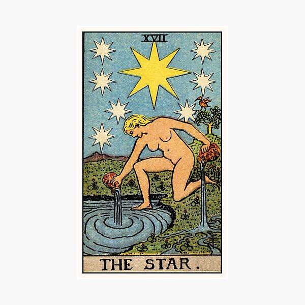 XVII. The Star Tarot Card Photographic Print