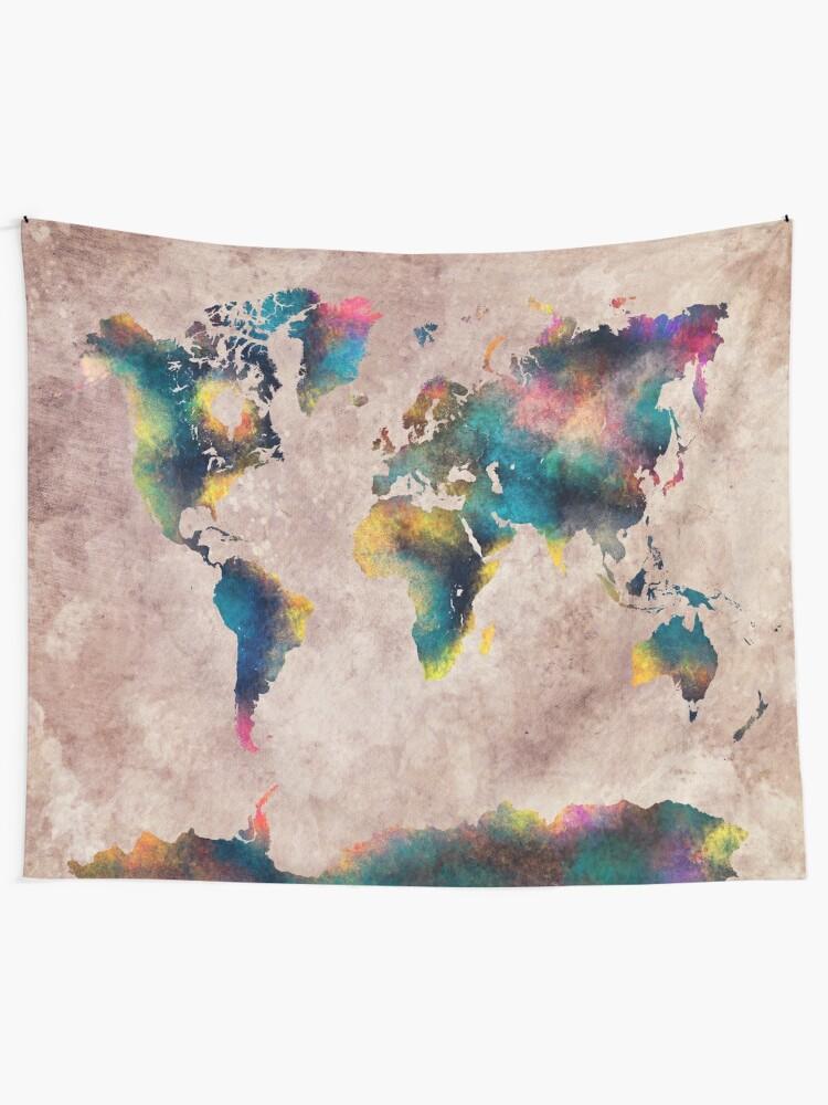 Alternate view of World Map #map #worldmap Tapestry