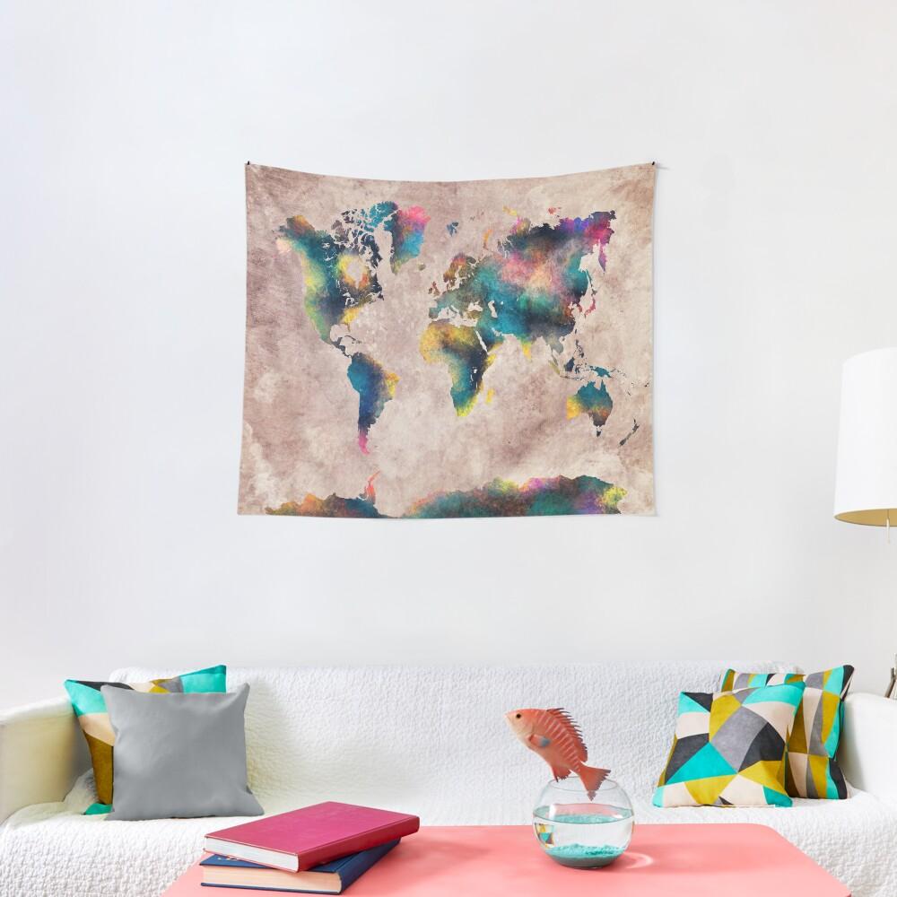 World Map #map #worldmap Tapestry
