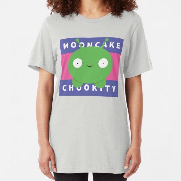 Chookity! Mooncake Final Space Slim Fit T-Shirt