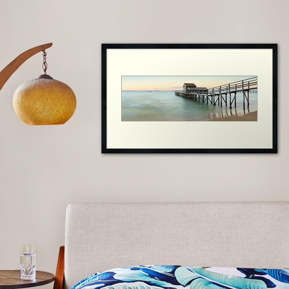 Portsea Pier, Mornington Peninsula, Victoria, Australia Framed Art Print