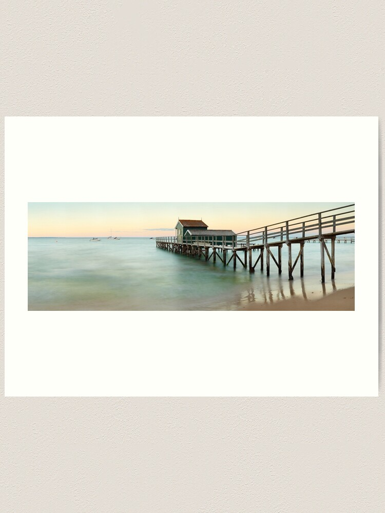 Alternate view of Portsea Pier, Mornington Peninsula, Victoria, Australia Art Print