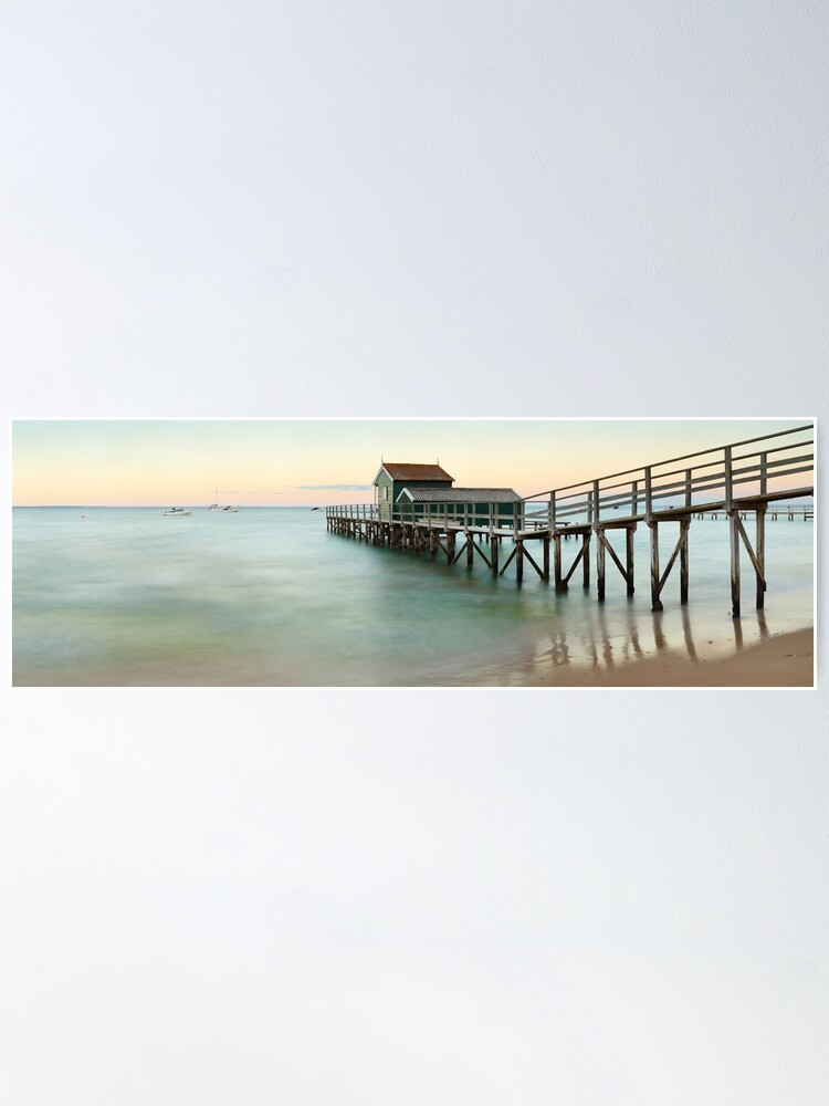 Alternate view of Portsea Pier, Mornington Peninsula, Victoria, Australia Poster