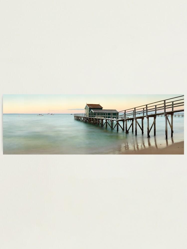 Alternate view of Portsea Pier, Mornington Peninsula, Victoria, Australia Photographic Print