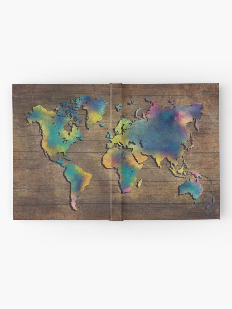 Alternative Ansicht von Weltkarte Holz #worldmap #map Notizbuch