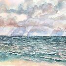 seascape violet beach painting by derekmccrea
