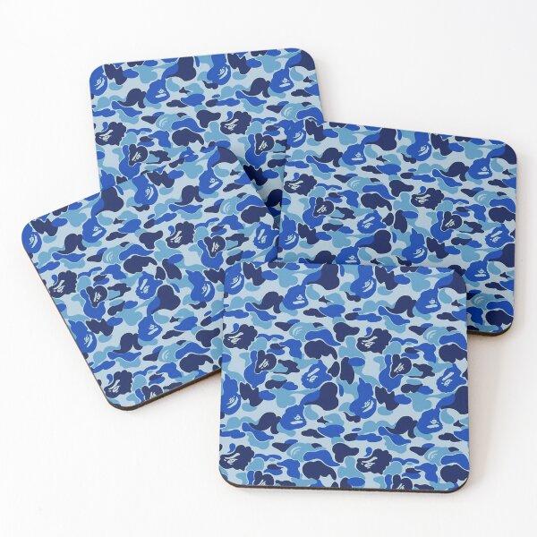 Blue Bape Camo  Coasters (Set of 4)