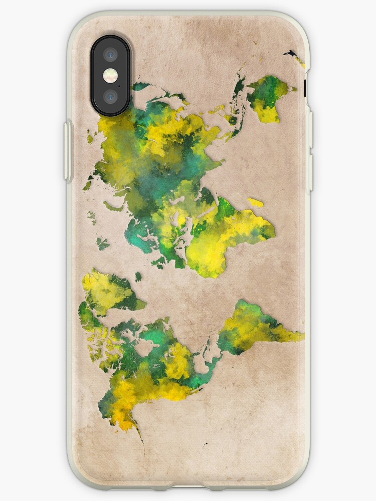 iphone xs case world map