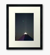 Pyramid Stage at night Framed Print