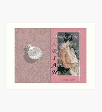 Christening Card with Acrostic   Art Print