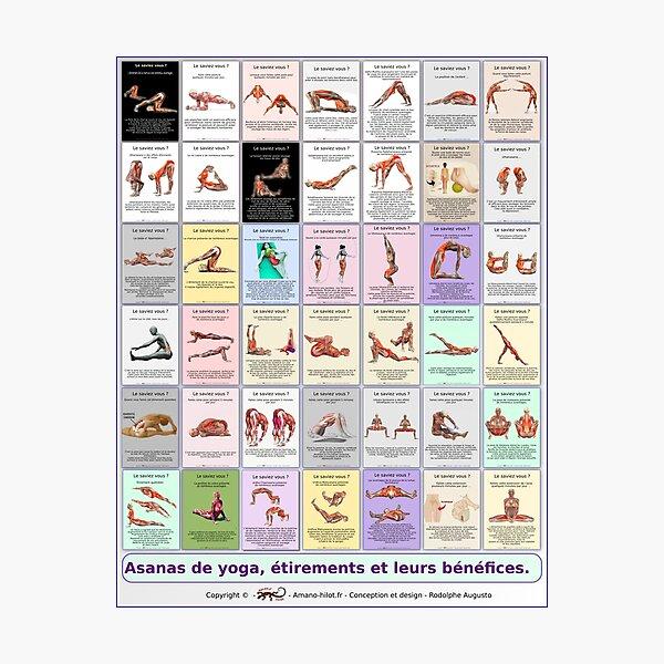 """Planche """"Global Asanas"""" 42 postures et étirements Impression photo"""
