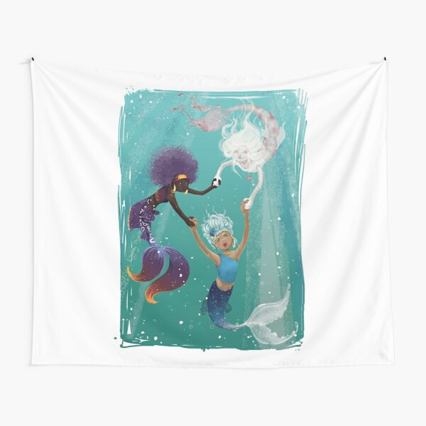 Three Mermaids Tapestry