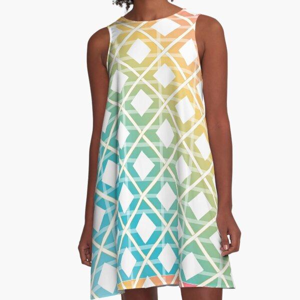 Rainbow colored seamless art A-Line Dress