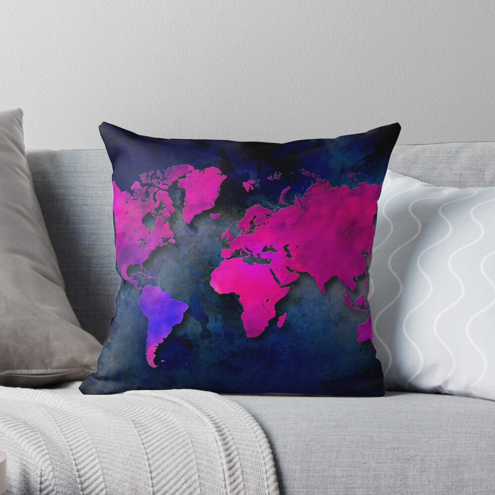 World map special 7 Throw Pillow