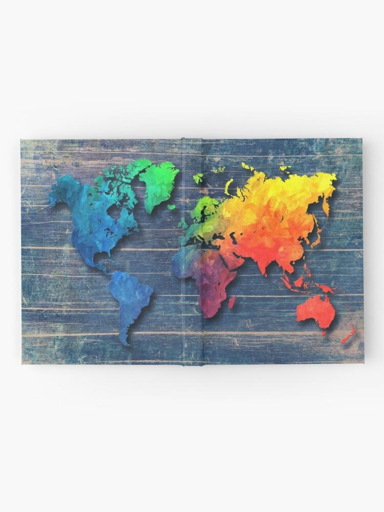 Alternative Ansicht von Weltkarte speziell 8 Notizbuch
