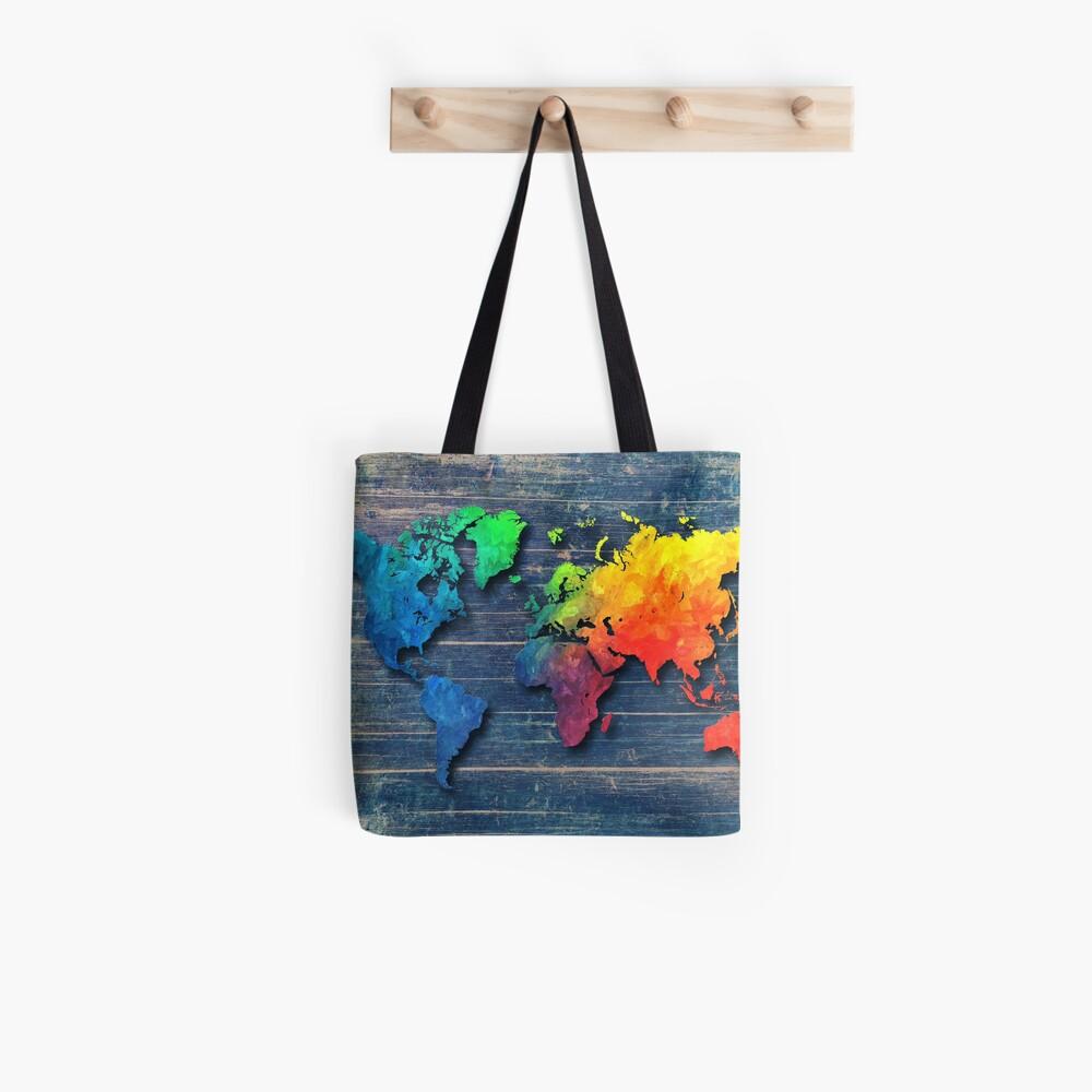 Weltkarte speziell 8 Stofftasche