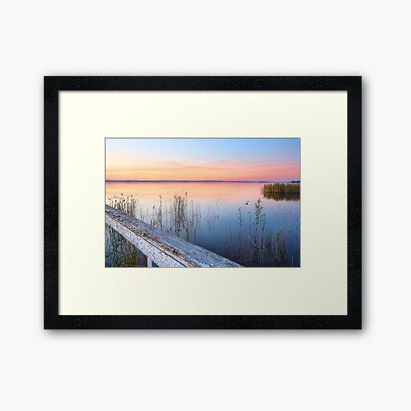 Stunning sunset at Long Jetty NSW Australia seascape Framed Art Print