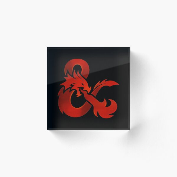 Dungeons and Dragons Acrylic Block