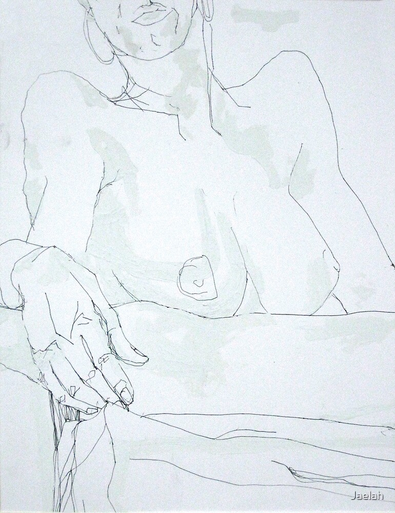 Nude with Hoop Earrings by Jaelah