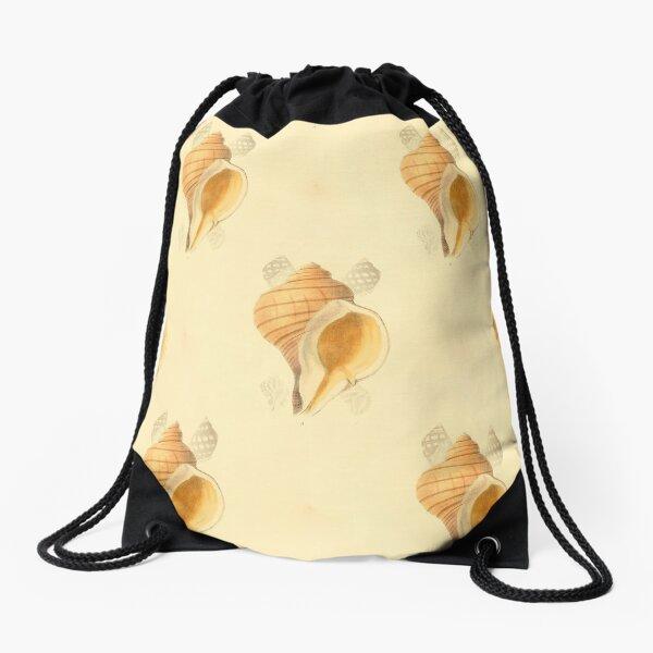 beach, shells Drawstring Bag