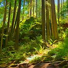 Forest Series: Canopy Light Gap by Tracy Riddell