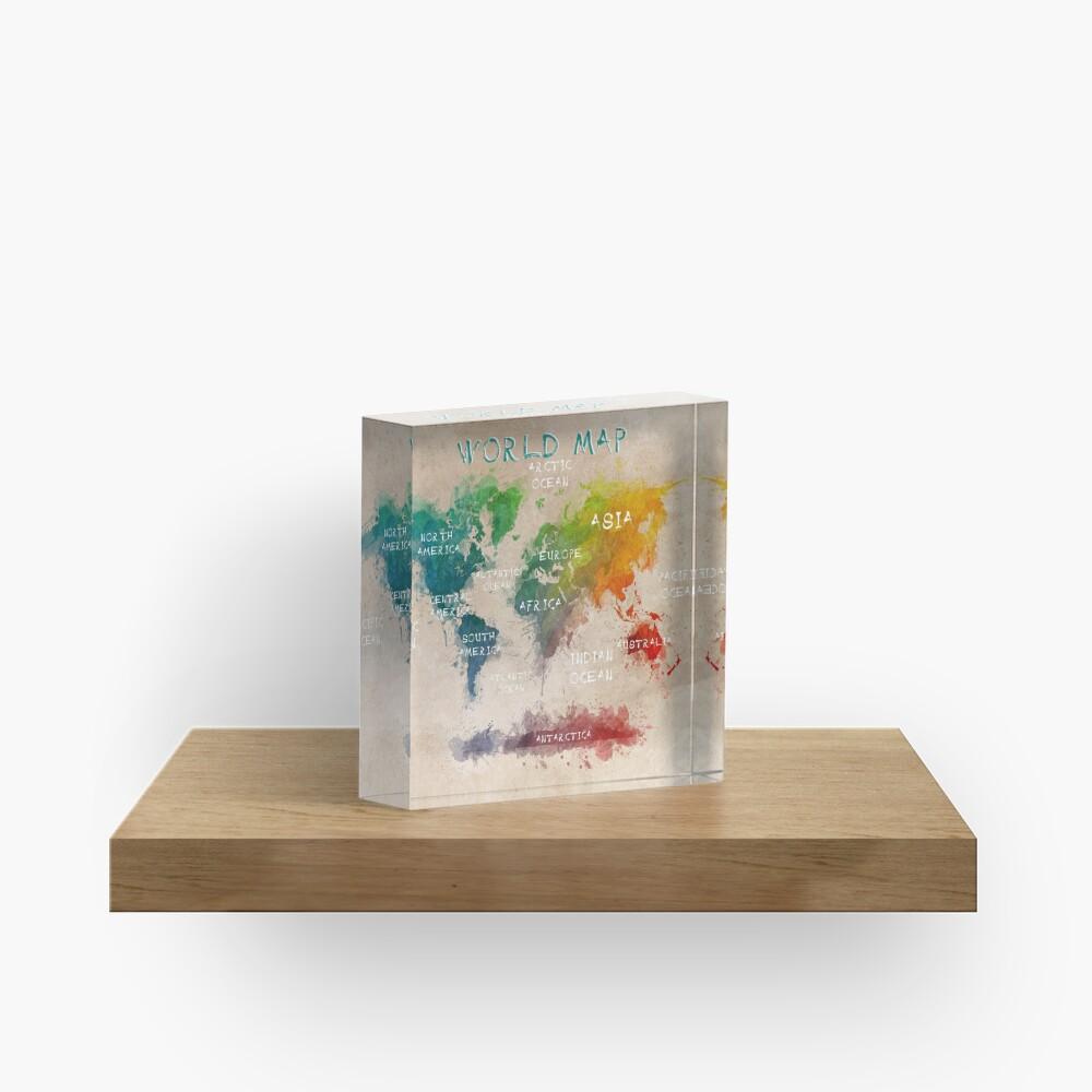 world map 14 Acrylic Block