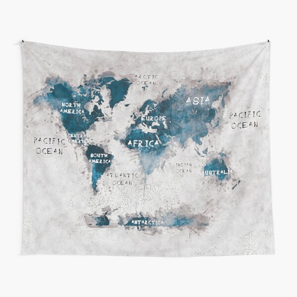 world map 13 Tapestry