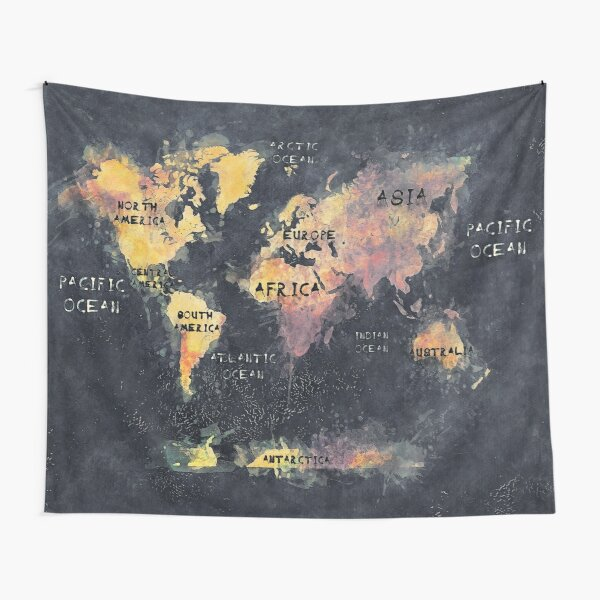 world map 12 Tapestry
